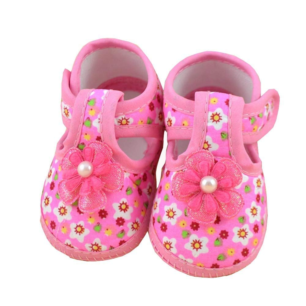Morrivoe Infant Baby Girl Boys Sequins Bowknot Soft Sole Slip-On Crib Shoes+1PC Hairband Toddler First Walkers Kid Shoes for 0-18 Month