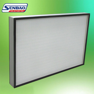 GCW Cleanroom ULPA Air Filter U15 With Mini Pleat , Electrostatic Air Filter