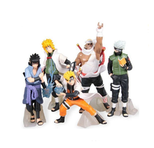 Novo Anime <span class=keywords><strong>Naruto</strong></span> brinquedos PVC Figure Set com Base de 5pcs
