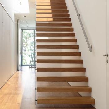 Klassische Gerade Treppe/modernes Design Schwimm Holz Treppen