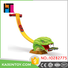 scare animal mouth design funny rail car alloy electric toy race track for custom