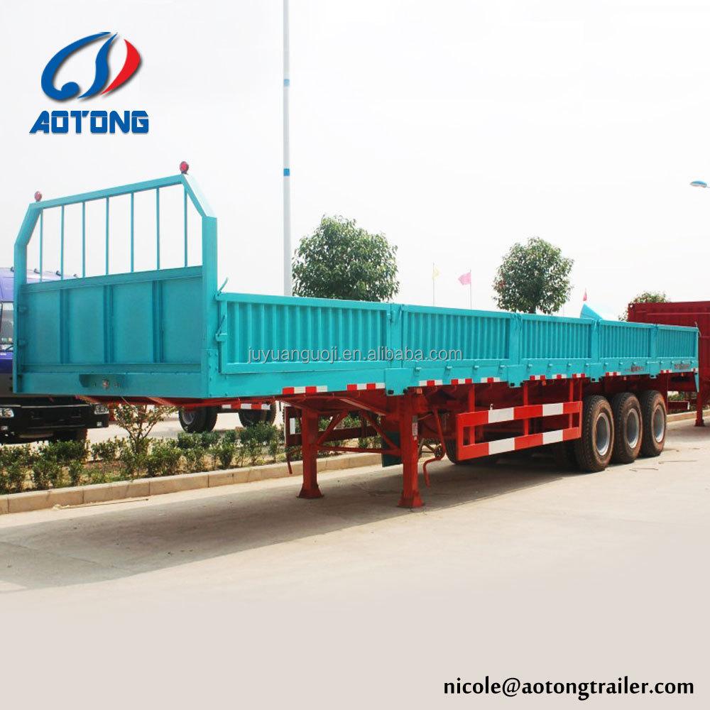 3 Achsen Cargo Transport Trailer/plattform Seite Beiträge Log Holz ...