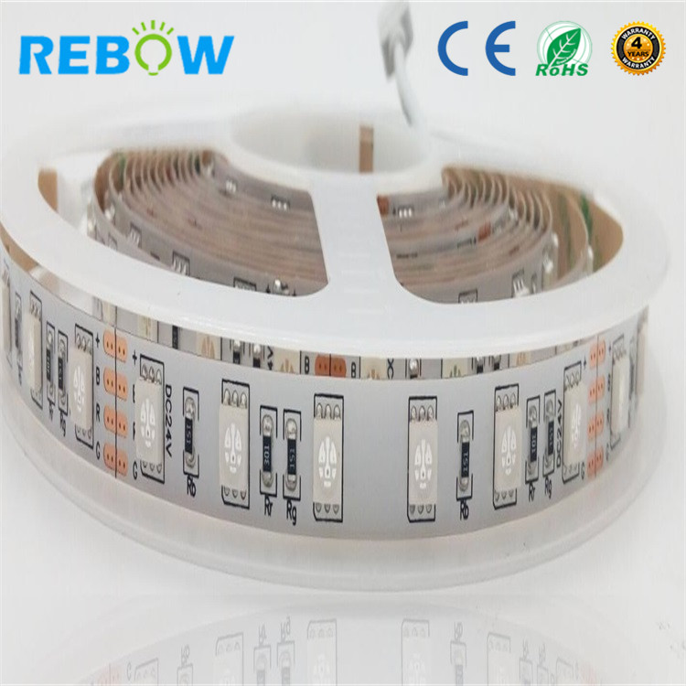SMD5050 <strong>RGB</strong> 60leds/m 5m/roll IP20 led 12V/24V strip with High Quality CE&RoHS