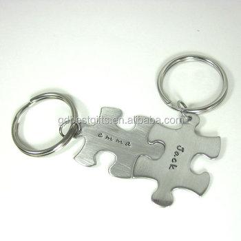 69c3cc4a2d747 Custom Couple Personalized Puzzle Piece Key Chain - Buy Puzzle Piece ...