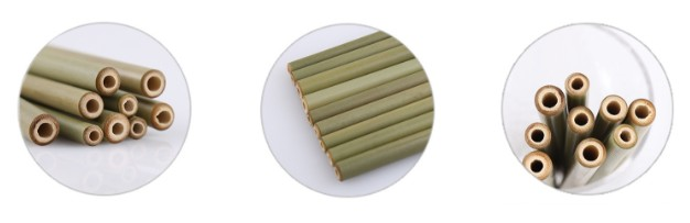 customized natural organic logo bamboo straw