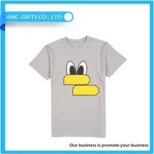High quality custom men fashion t shirt with logo printing OEM 100% cotton t-shirt wholesale
