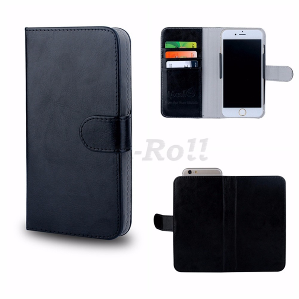 Case for Yezz ANDY A6Q,Uplus Universal Up Down Flip Leather Wallet Cover Case for Yezz ANDY A6Q Easy to Take Photos