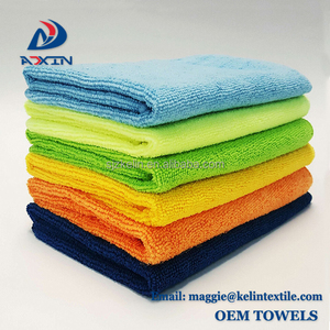 Free Sample Microfiber towel 40x40cm Microfiber Cleaning Cloth For 24 pack