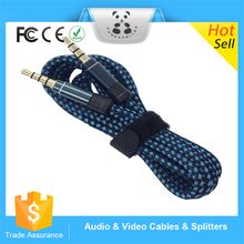 HOT promotional 3.5mm male aux audio plug jack to usb 2.0 female usb cable Audio AUX Auxiliary Cable custom aux cable