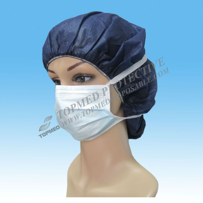 High quality non-woven disposable 3 ply face mask / Surgical face mask cloth