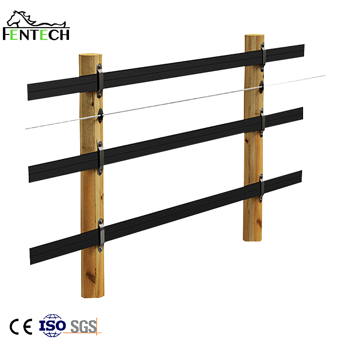 Fentech Factory manufacturing Flexible Rail horse fence