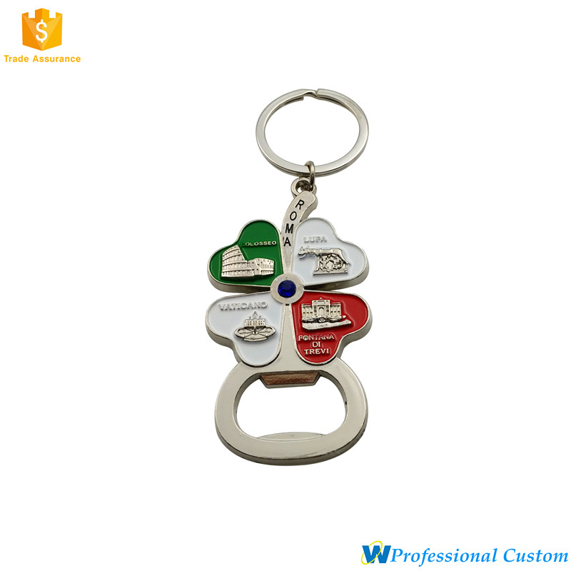 Fashion Personalized Four Leaf Clover Bottle Opener Key chain