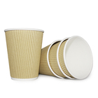 China Disposable Double Wall Paper Cup Manufacturer 6oz 7oz 8oz 12oz Ripple Paper Cup
