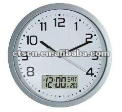 a200f4e17b0 Relógio De Parede Analógico Com Lcd