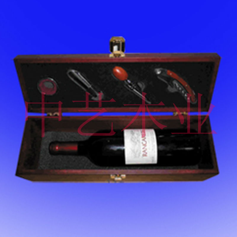 2014 New custom wooden wine glass box gift set