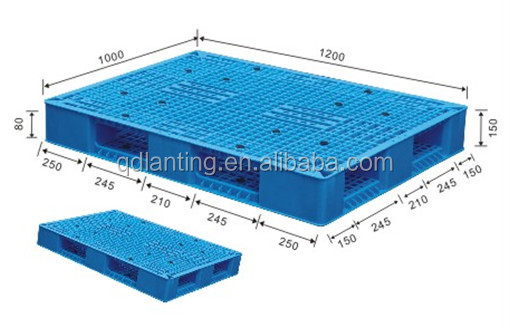standard pallet size. 1200x1000mm food grade euro standard pallet size o