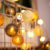 decorative led cotton wire ball party lights for weddings