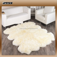 Extra Large XL sheepskin patchwork Area rug for Living Room