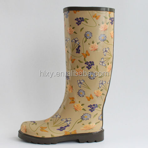 sex ladies high heels women rubber rain boots