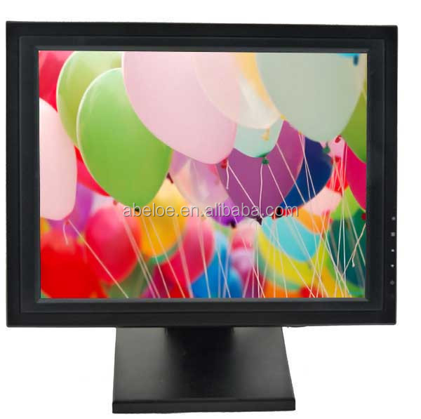 Monitor Lcd Touchscreen 17'' VGA DVI USB 1024x768 resolution 17 Inch POS Touch Screen Monitor