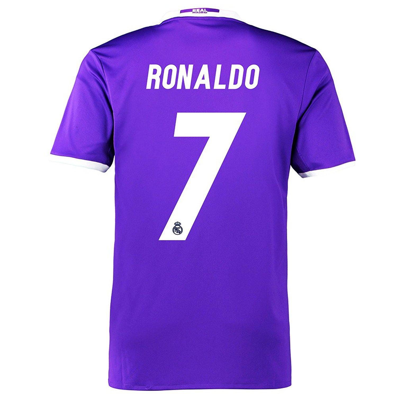 9900d577d Get Quotations ·  7 Ronaldo Away Men s Soccer Jerseys 2016-2017 Purple