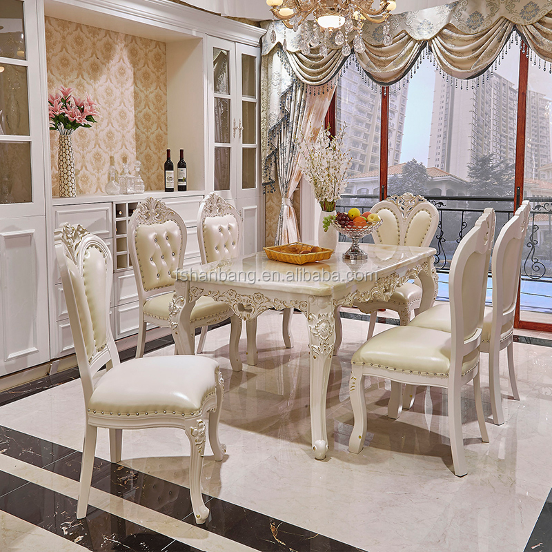Luxury White Lacquer Silver Gold Stroke Antique French ...