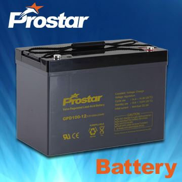 Deep Cycle Battery/Longer Cycle Service Life/Maintenance-free/For UPS and Lighting 12V 100AH