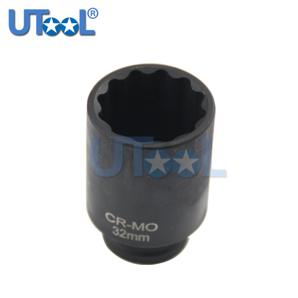 "28mm Heavy Duty Steel Impact Socket Deep 1//2/""Sq Drive 6 Point Hub Nut"