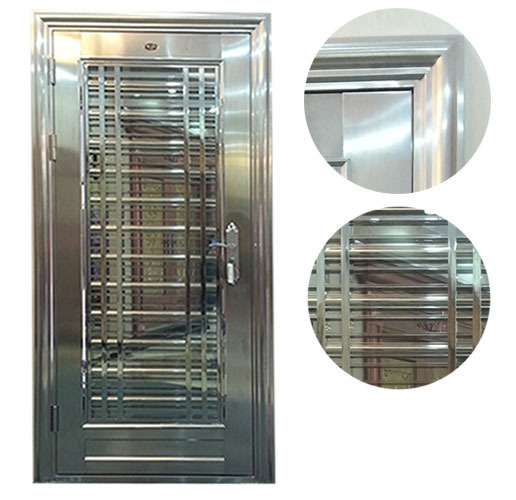 Custom made 304 stainless steel door for indian main door for Main door panel design