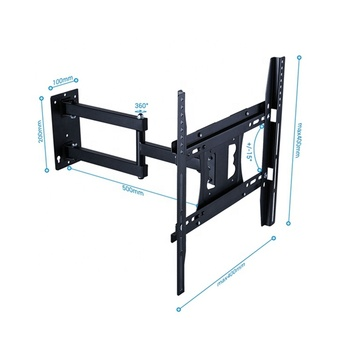 Hot Sale articulating Extension Arm Flat Screen TV Mount 22-50inch Full Motion Swivel Monitor TV Wall Mount Bracket