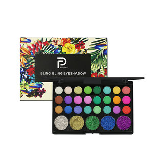 Wholesale makeup high pigment palette 29 color glitter eyeshadow private label make your own brand eyeshadow palette