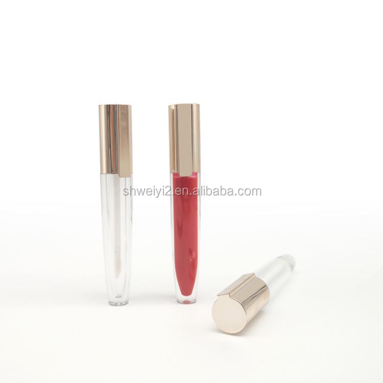 new arrival personalized empty gold lipgloss tube packaging lip gloss container private label