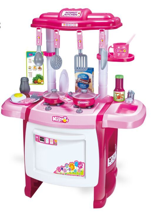 venta caliente de plstico realastic nios juguete juego de cocina para cocinar
