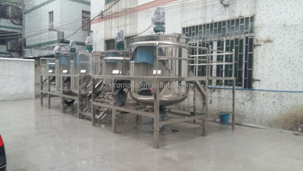 GZ Promake YEX 2000L dishwashing, soap shampoo and body lotion detergent making machine