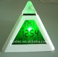 Pyramid Digital clock with mood light