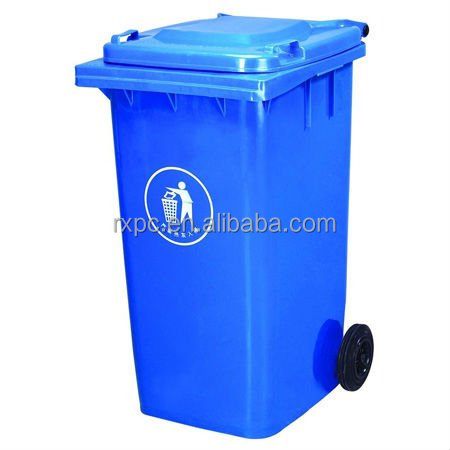 240L large Outdoor HDPE plastic waste bin