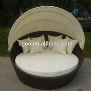 New Style Outdoor Canopy Round Sofa Bed Sun lounger