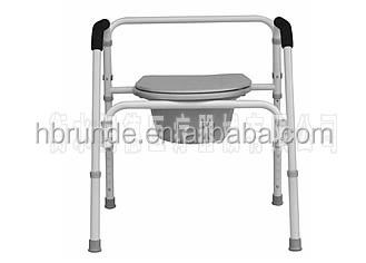 health care folding toilet commode chair for elder person manufacture
