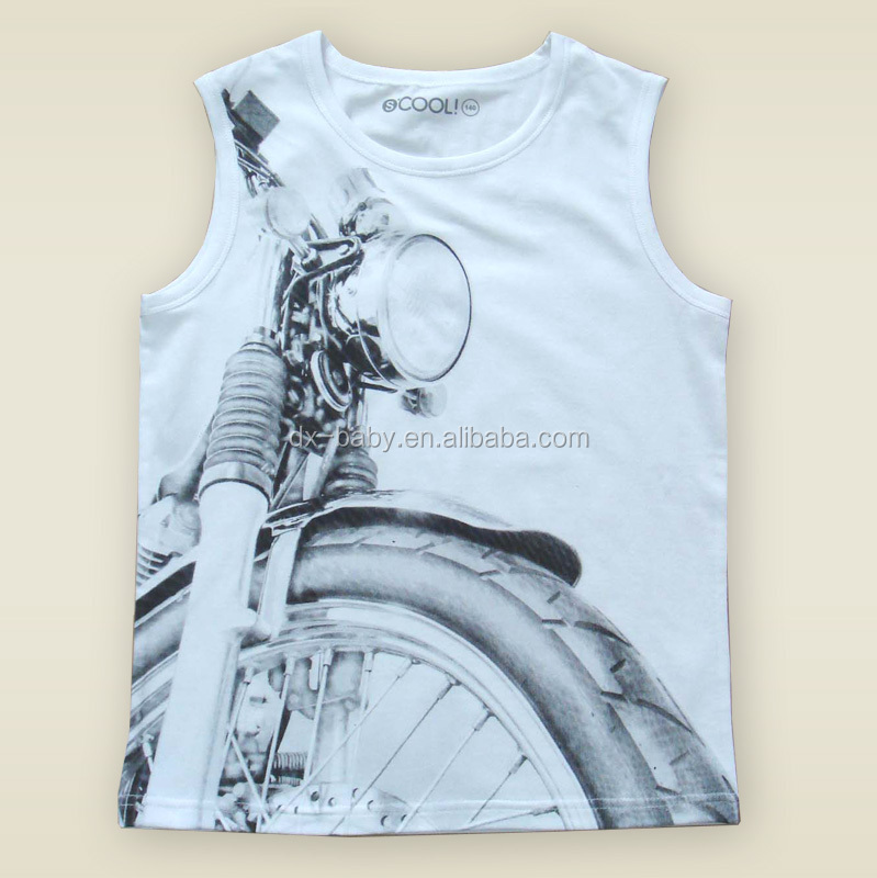 China Supplier Boys Sleeveless Motorcycle Design Fashion Boys Kid ...