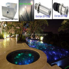 lowest price metal halide fiber optical light source for swimming pool