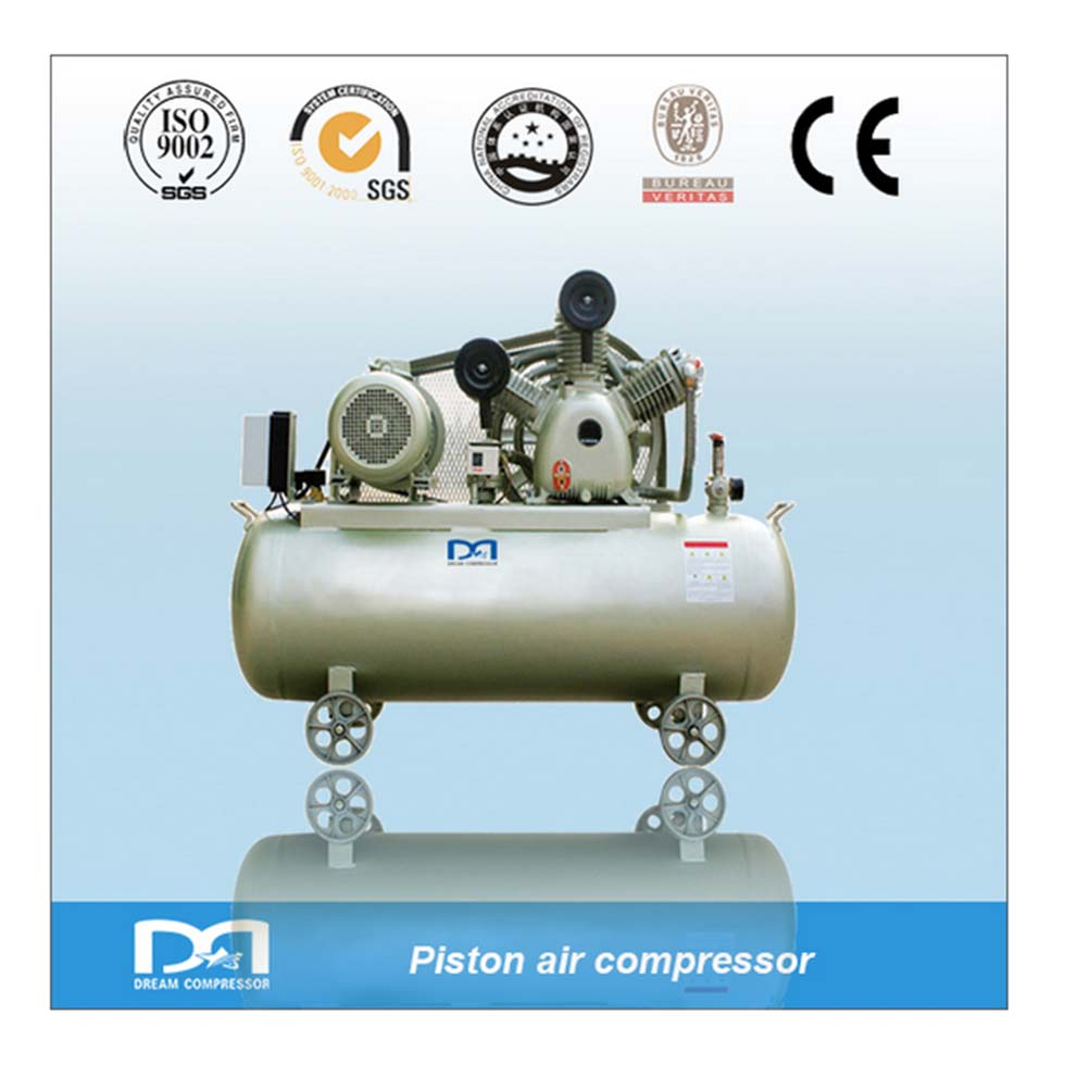 Portable Configuration piston air compressor and electric driven 12v air compressor with tank for car