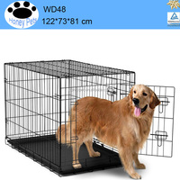 Animal Carrier Foldable Wire Metal Folding wire basket cage dog muzzles