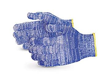 Superior SNWCPNT Emerald CX Nylon/Polyester/Cotton/Stainless Steel Wire-Core Composite-Knit Glove with Nitrile Palms, Work, Cut Resistant, 7 Gauge Thickness, Small, Speckled Blue (Pack of 1 Pair)