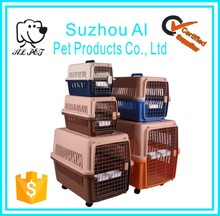 Airline Approved Pet Cat Kennel Cages Foldable Plastic Dog Crate
