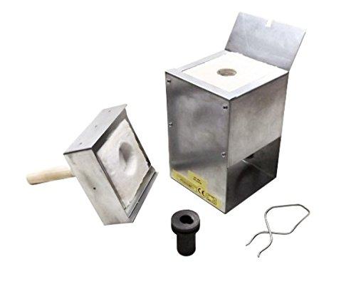 Gold & Silver Metal Melting Kiln R9-4 1120C (2048F) + 4 Oz Graphite Crucible + 1-4 Oz Metal Tongs
