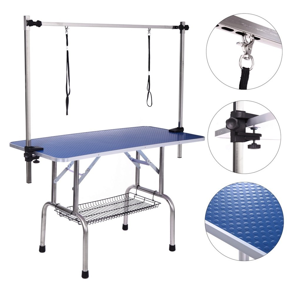 Affordable Dog Grooming Table Arm Get Quotations · Dog Grooming Table, Adjustable Clamp Overhead Pet Grooming  Arm with Double Grooming Loop 46u0027