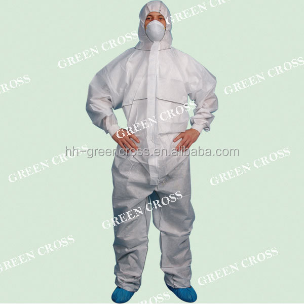 OEM Anti - MERS,--Disposable non woven PP fabrics sterile surgical gown Simple chemical suit