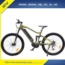 27.5 Inch Big Wheel 350W 8FUN Center Motor Electric Bike With RST Suspension Front Fork E bike for Sale