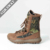 Army Camo Suede Leather Boots Long Shoes for Men