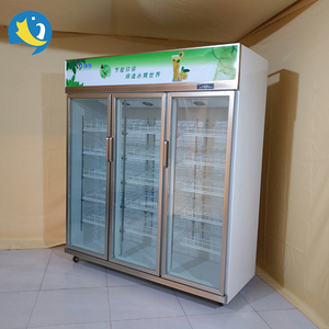 Trade Assurance commercial 3 door glass freezer refrigerator chiller for convenience store